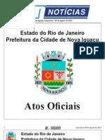 diario oficial de nova iguaçu - 09 de agosto de 2013.