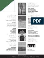 Duke University Press Program Ad for 2013 Critical Ethnic Studies Conference