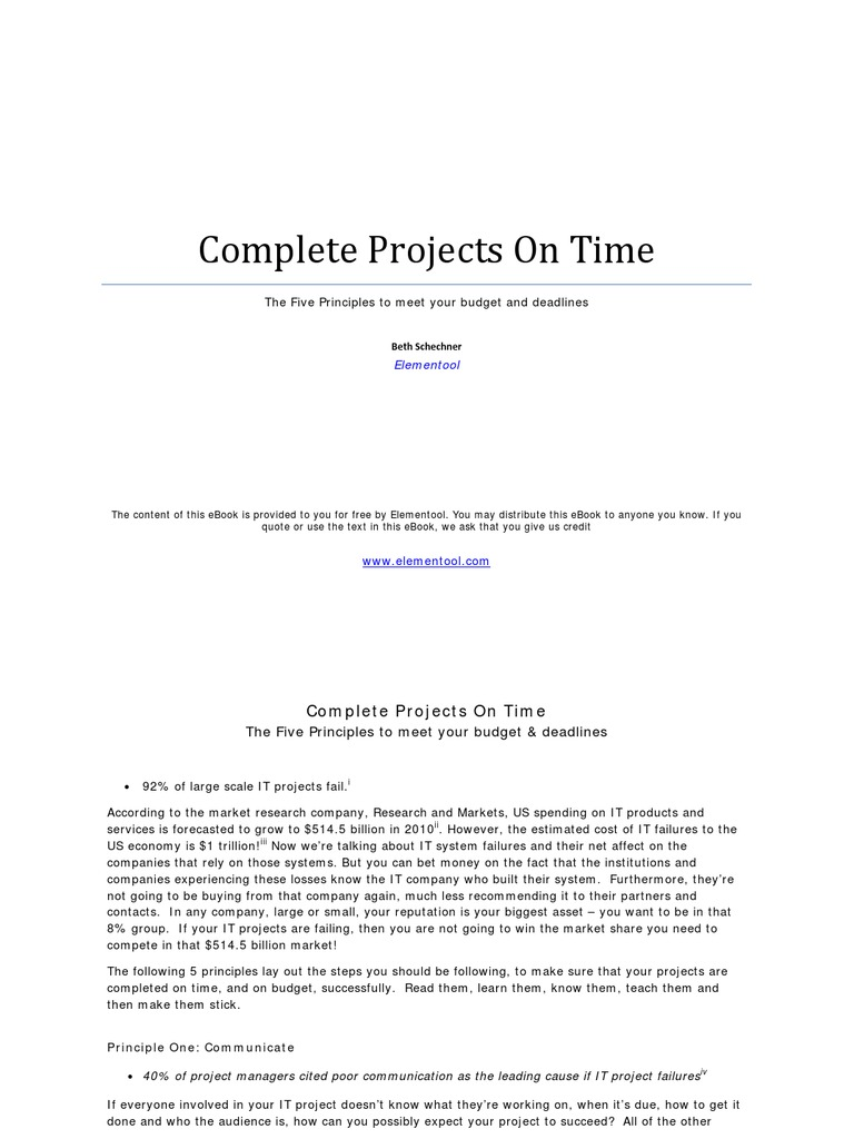 Complete projects on time time management software bug fandeluxe Choice Image