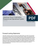 AMT 4Q12 Financial Operational Update
