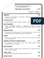 Syllabus - Industrial Management