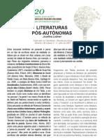 Josefina Ludmer Literaturas Pós-Autônomas