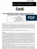 Impact of Relationship Marketing and Perceived Service Quality on Customer Loyalty