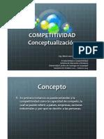 Competividad Pais Conceptualizacion MLR SemestreBEnero2013