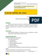 Tema 5. Plan de Control de Agua