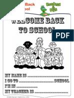 Welcome Back to School - Activities