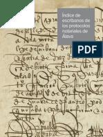 Índice de escribanos de protocolos de Ávila