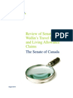 Review of Senator Wallin's Travel Expenses and Living Allowance Claims