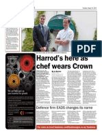 Chris Harrod's arrived in Monmouthshire, South Wales and is wearing The Crown
