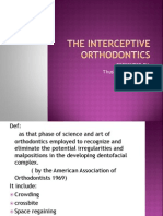 The Interceptive Orthodontics
