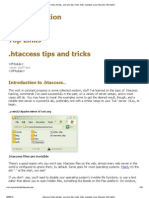 .Htaccess Tricks and Tips.. Part One_ Tips, Tricks, Hints, Examples; Juicy .Htaccess Information