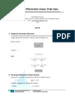 Konsep Diferensial Linear Orde Satu Dalam Probabilitas