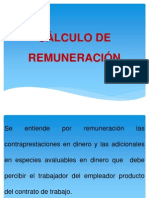 CÁLCULO DE REMUNERACIÓN