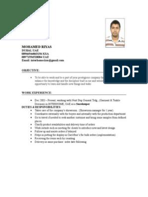 13801865 Storekeeper Cv | United Arab Emirates | Saudi Arabia