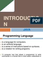 1 Java Introduction
