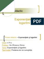 Proiect Didactic Functia Exponentiala