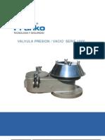 Valvula Presion Vacio Serie 1000