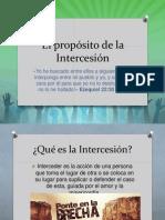 El propósito de la Intercesión