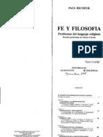 Paul Ricoeur - Fe y Filosofia