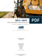 2013-14 Adopted Budget and Financial Statements