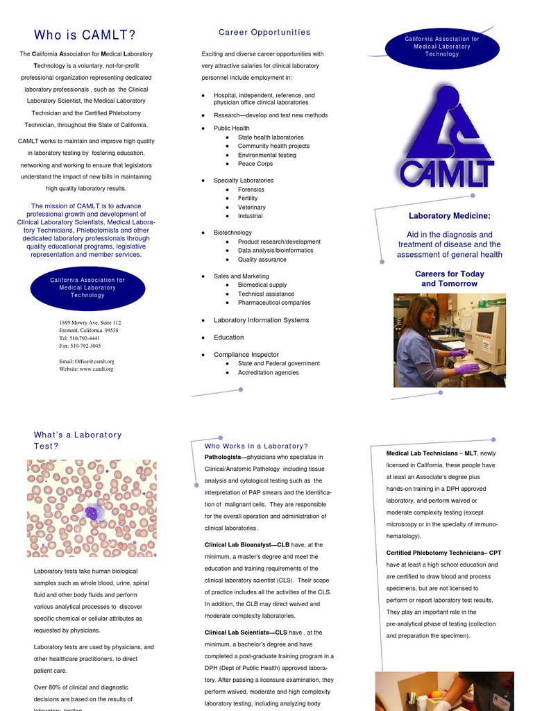 Brochure Recruitment Medical Laboratory Service Industries