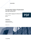 Incorporating Software Requirements into the System RFP