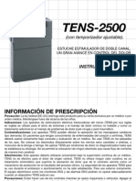 Manual Tens 2500 Espaolweb