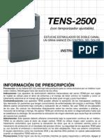 Manual Tens 2500 Espaolweb