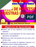 PRUEBA DE HIPOTESIS - UNA Y DOS COLAS