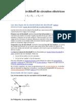 Leyes de Kirchhoff de circuitos eléctricos