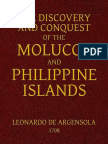 The Discovery and Conquest of the Molucco and Philippine Islands. by Argensola