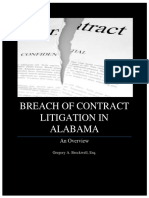 Breach of Contract Litigation in Alabama - An Overview