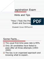 Pre-Reg Exam Hints and Tips