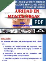 Seguridad en Montacargas Expos.