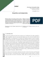 Biopolítica y subjetividad