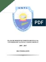 Plano Estrategico da Universidade Nacional Timor Lorosa'e