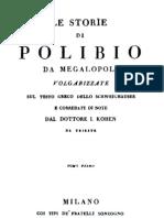 Polibio Da Megalopoli - Le Storie Vol. 1