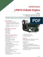 Alpha LPWT4 G-Build Technical Data Sheet