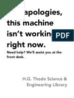 Thode Library, McMaster University - New Signage