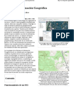 Sistema de Información Geográfica - GIS