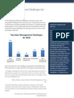 Sales Management Challenges 2010