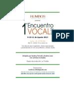 Programa Encuentro Vocal 2013