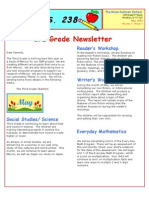 3rd Grade May Newsletter