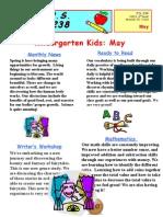 Kindergarten May Newsletter