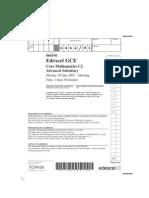 Edexcel GCE Core 2 Mathematics C2 advanced subsidary jun 2005 6664/01 question paper