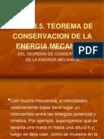 teorema conservacion energia mecanica