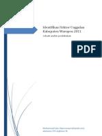 Identifikasi Sektor Unggulan Waropen 2011