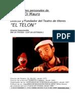 Antecedentes Enrique Di Mauro, Director de EL TELON