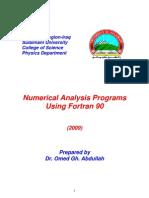Fortran Numerical Analysis Programs