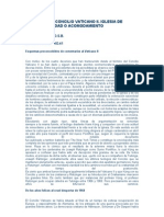 A 40 AÑOS DEL CONCILIO VATICANO II (pregunta 1)